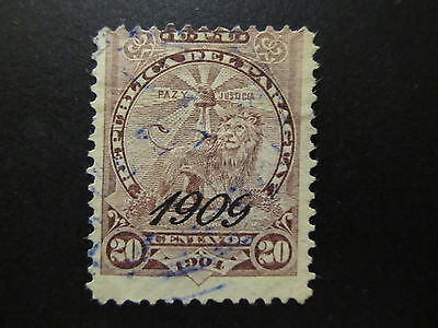 1909 - Paraguay - Surcharged In Black - Scott 188 A35 20C