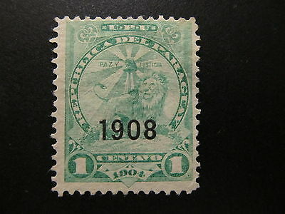1908 - Paraguay - Surcharged In Black - Scott 174 A35 1C