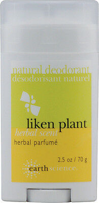 Natural Deodorant Liken Plant, Earth Science, 2.5 oz