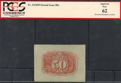 Fr1314Sp 50¢ Fractional Currency Specimen 2Nd Issue Pcgs 62 (App) New Bt2548