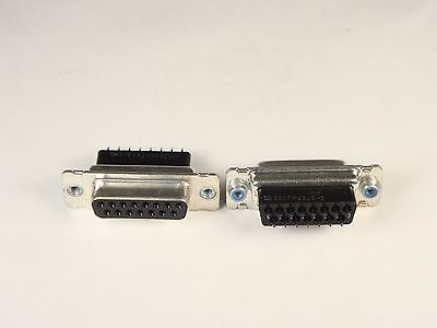 745820-1 AMP D Sub Connector Receptacle 2 Rows 15 Position Shell Size 2 Vertical