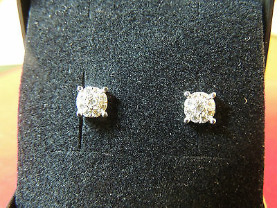 Boucles d'oreilles or 18 carats et diamants