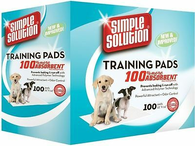 Puppy Toilet Training Pads x 100 Pack Simple Solution Dog Crate Liners Travel