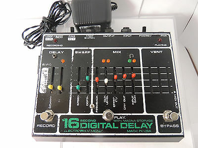 RARE ELECTRO HARMONIX 16-SECOND DELAY LOOPER EFFECTS PEDAL w/POWER SUPPLY