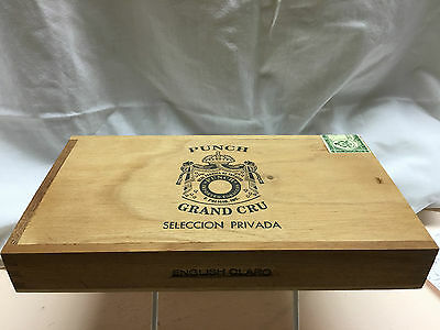 Punch Grand Cru Seleccion Privada English Claro (Honduras) Empty Box and MORE!!