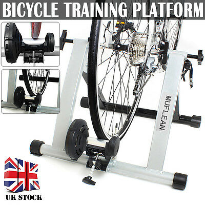 Folding Indoor Bike Bicycle Magnetic Turbo Trainer Exercise Fitness Training