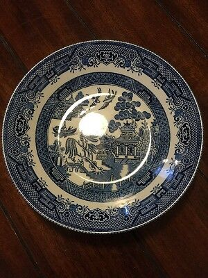 Churchill Vintage Blue Willow Soup Breakfast Bowl Mint Never Used