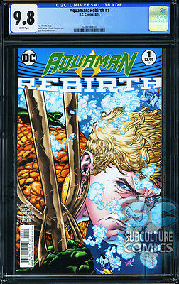 Aquaman Rebirth #1 - First Print - Cgc 9.8 - Sold Out - Dc Comics Relaunch
