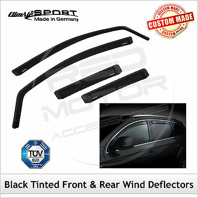 CLIMAIR BLACK TINT Wind Deflectors HONDA INSIGHT Mk2 2009-2014 SET of 4