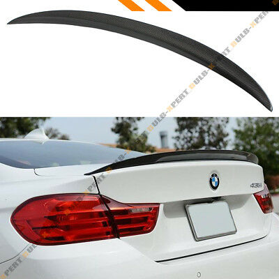 For 14-19 Bmw F36 4 Series Gran Coupe High Kick Carbon Fiber Trunk Spoiler Wing