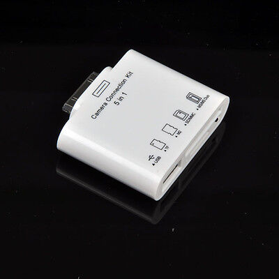5in1 Camera Connection USB SD TF M2 Card Reader Adapter GS for Apple iPad 3 2 1