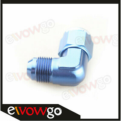 8AN -8AN AN8 90 Degree Female To Male Fittings Adapter Aluminum Blue