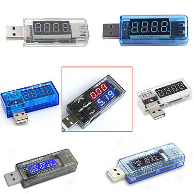 New USB Volt Current Voltage Doctor Charger Capacity Tester Meter Power Bank