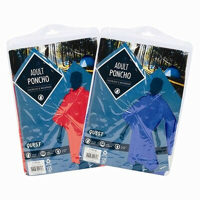 Adults Waterproof Poncho Raincoat Hooded Unisex Fit Disposable or Reusable