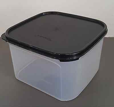 qTupperware Clear Storage Container Modular Mates #2 Square Black Seal New