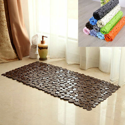 27*14 Inch Large Strong Suction Anti Slip Bath Shower Mat Pebble Anti-Bacterial