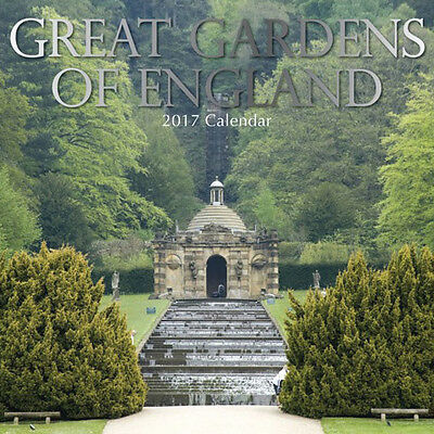 Great Gardens of England 2017 Wall Calendar NEW by the Gifted Stationery