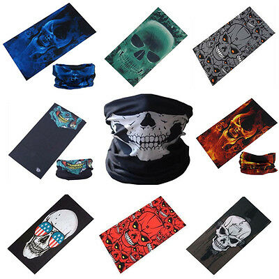 Skull Face Shield Mask Bandana Neck Scarf Headwear Face Tube Weed Fishing Harley