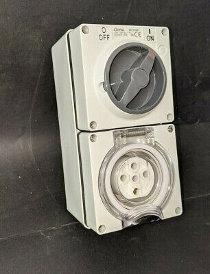 Industrial 3 PHASE Switched Socket Outlet 5 PIN 20 Amp 20A