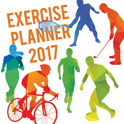 Exercise Planner 2017 Wall Calendar NEW by the Gifted Stationery