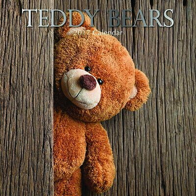 Teddy Bears 2017 Wall Calendar NEW by the Gifted Stationery