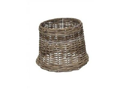 VINTAGE STYLE HIGH QUALITY RATTAN LAMP SHADE - D32 x H24 cm
