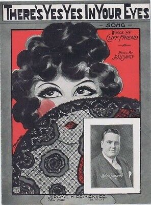 There's Yes Yes In Your Eyes, Bob Causer ,1924