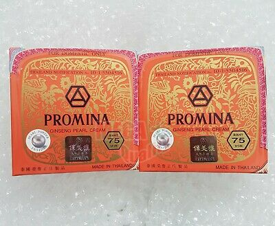 2 x PROMINA GINSENG PURE PEARL FACE CREAM REMOVAL FRECKLE + ACNE DARK SPOT WHITE