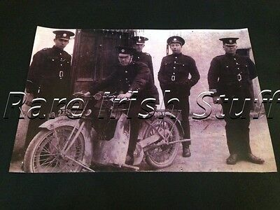 Garda (Irish Police Force) & Motorcycle / Motorbike - 1940s Ireland Photo Print