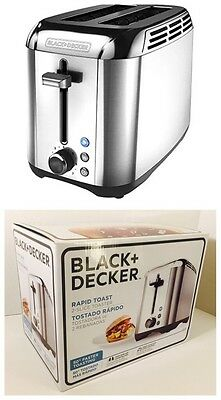 New In Box! Black + Decker TR3500SD Rapid Toast 2-Slice Toaster - Silver