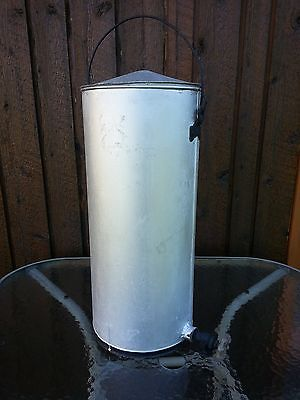 "Vintage Painted Metal Water Container 20"" High with Faucet"