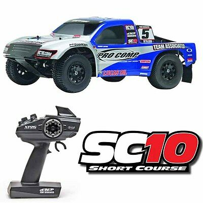 Team Associated 7028 1/10 SC10 Pro Comp Short Course 2WD Truck RTR w/ Radio
