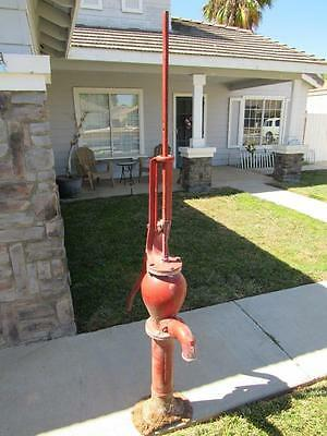 Vintage 1929 Red Myers water pump, very rare super tall large size, GORGEOUS!!