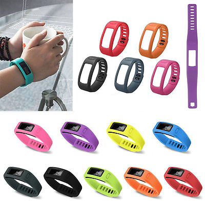 Replacement S/L Silicone Wrist Bracelet Band Strap With Clasp for Garmin Vivofit