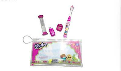 Shopkins Brush Buddies Dental Travel kit includes toothbrush, floss and timer
