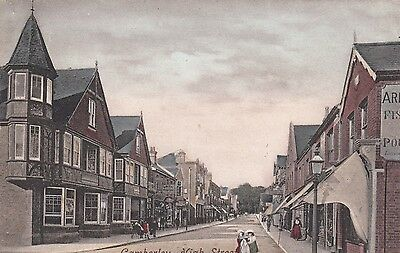 Camberley High Street, Camberley, Surrey, old postcard, posted 1908