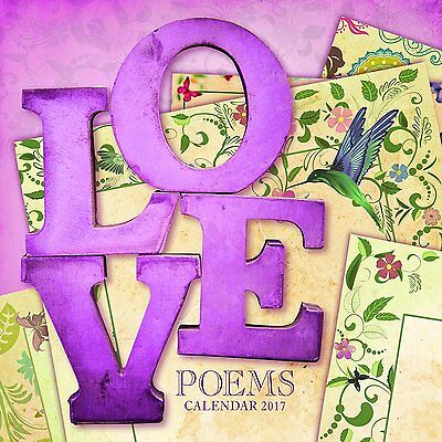 Love Poems 2017 Wall Calendar NEW by the Gifted Stationery