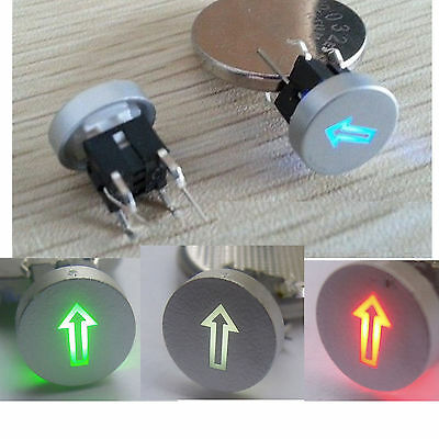 Blue/Red/Green/Yellow 10mm Cap Arrow 12V 50mA Momentary Tact Push Button Switch