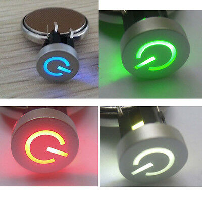 Blue/Red/Green/White LED 10mm Cap Power 12V Momentary Tact Push Button Switch