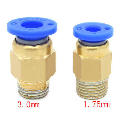 Push Fit Pneumatic Coupling Coupler Fitting - PTFE Tubing / Bowden 1.75/3mm 3D