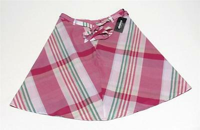 New Ladies abacus Newark golf skirt Cranberry Check Size 8