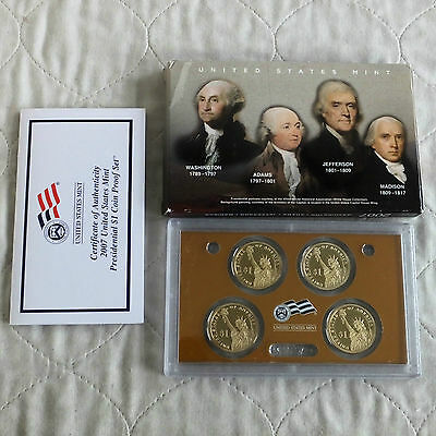 USA 2007 PRESIDENTS 4 X $1 PROOF YEAR SET - complete