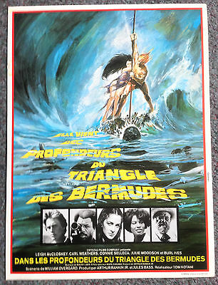Original French Mini Poster / Synopsis Sheet The Bermuda Depths