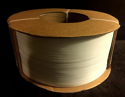 Universal Strapping 3830-8W Polypropylene Machine Strapping Material - 3/8x.0022