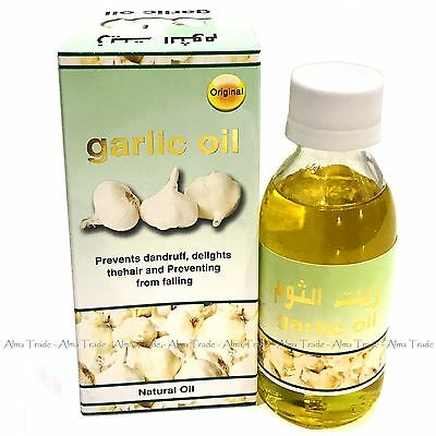Garlic Oil Natural Prevent Hair Loss Falling Dandruff Treatment by Baqais 125ml