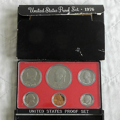 USA 1976 s 6 COIN PROOF YEAR SET WITH EISENHOWER DOLLAR - sealed with outer