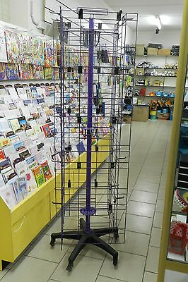 Spinning display Rack Stand, square , total 40 hangers, new condition