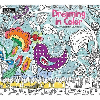 Dreaming in Color 2017 Colouring Wall Calendar (Lang) NEW