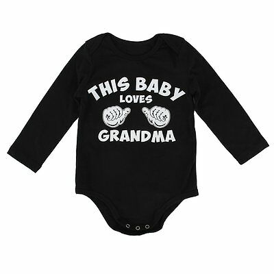 Newborn Baby Boy Girls Kids Funny Cotton Romper Jumpsuit Bodysuit Clothes Outfit