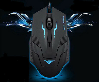 New 1600DPI 3 Button Optical USB Wired Gaming Mouse Mice For PC Laptop Computer